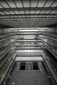 The Atrium of the Bell Labs building in Holmdel, N.J.