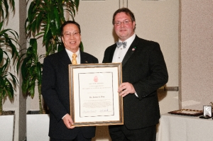 Dr. James Hsu and AIA-NJ President Jason Kliwinski