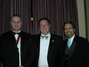 (L to R) AIA-NJ President Elect Michael Hanrahan, AIA-NJ President Jason Kliwinski and AIA-CNJ President Joseph Totaro at Central NJ's Annual Dinner.