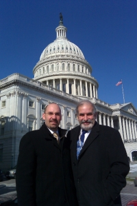 AIA-NJ Treasurer Justin Mihalik, AIA, and Past President Jerome Eben, AIA, at Capital Hill.
