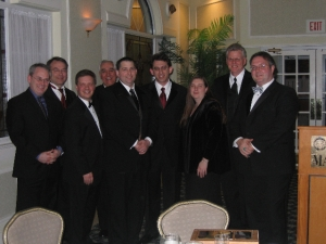 AIA-NJ President Jason Kliwinski with AIA West Jersey 2010 Officers at their Inaugural Gala.