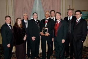 2011 AIA West Jersey Board with Goettleman Award recipient Van Bruner, FAIA