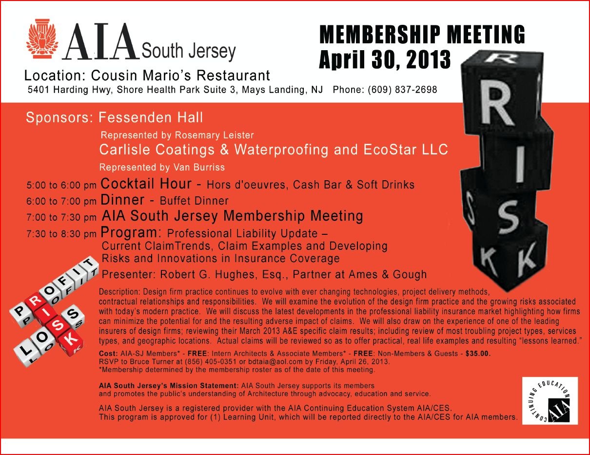 AIA South Jersey April 30 2013