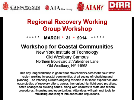 Regional Recovery Working Group Workshop flyer