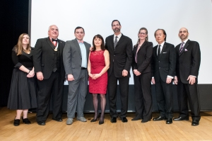 (L to R)  Kimberly Bunn AIA, Kurt Kalafsky AIA, Nicholas Caravella Assoc AIA, Judith Donnelly AIA, Steve Lazarus AIA, Verity Frizzell AIA, Ben Lee AIA, Justin Mihalik AIA