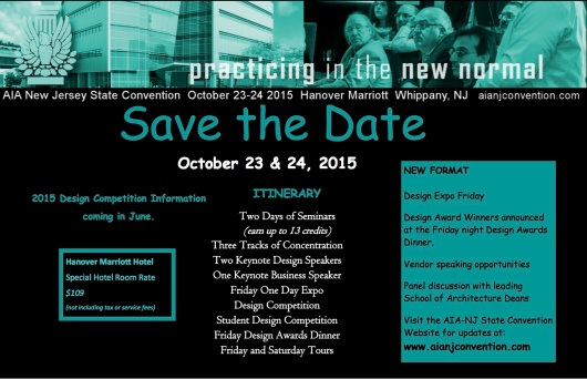 AIANJ 2015 Convention Save the Date