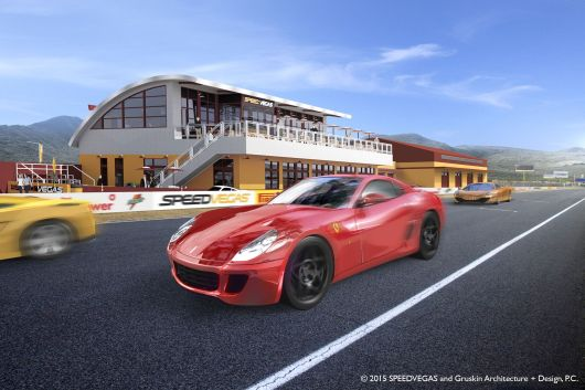 2015_SPEEDVEGAS_Gruskin Archi_Red Car