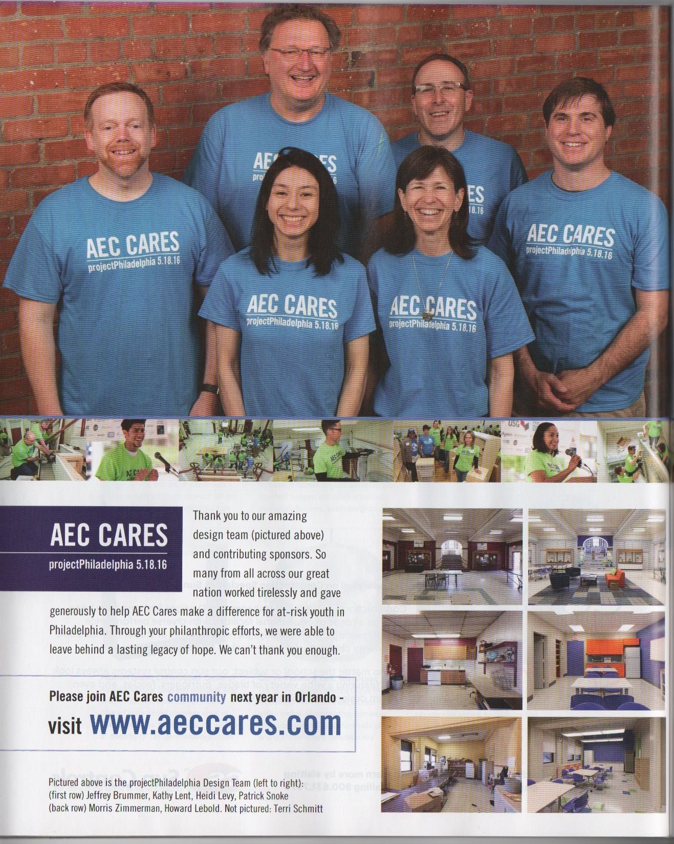 AEC Cares at 2016 AIA Convention One Page
